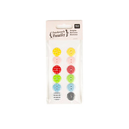 Rico Mixed Pattern Buttons - Plastic