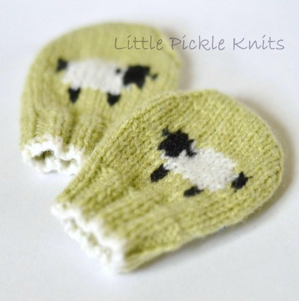 Baby Mittens \'Little Baa Baa\' Knitting pattern by Little Pickle ...