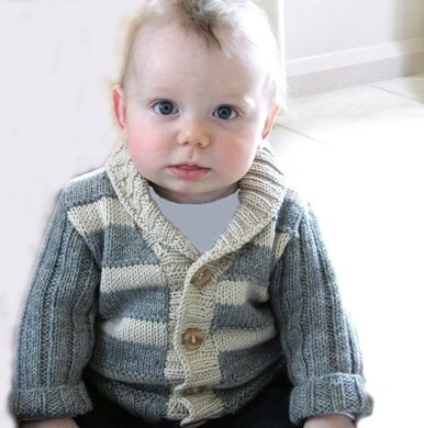 Baby - Child Stylish Cardigan with ribbed sleeves and collar P040
