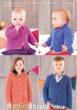 Cardigans in Sirdar Snuggly Snowflake Chunky - 4596