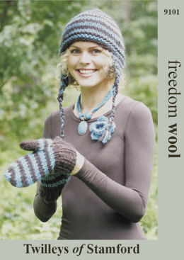 Hat & Mitts in Twilleys Freedom Wool - 9101