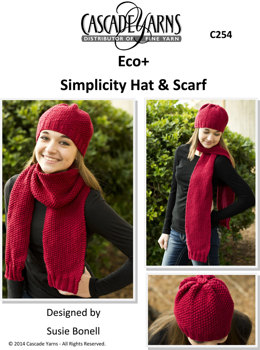 Simplicity Hat and Scarf in Cascade Eco+ - C254