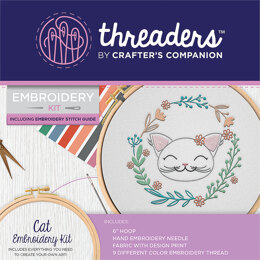 Crafter's Companion Cat Embroidery Kit