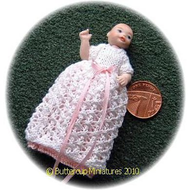 1:12th scale Christening gown