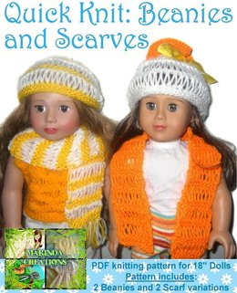 Quick Knits Beanies and Scarves for AG