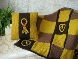 Wheat Plait Cushion & Throw