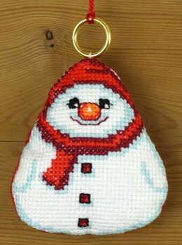 Permin Snowman Ornament Cross Stitch Kit