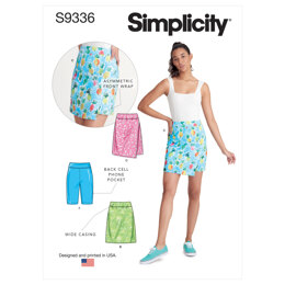 Simplicity Misses' Knit Skorts and Shorts S9336 - Sewing Pattern
