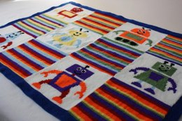 The Knitbots baby blanket