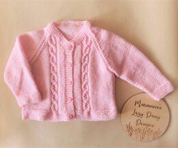 Lace Cable Baby Cardigan