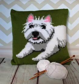West Highland Terrier Pet Portrait Cushion Cover
