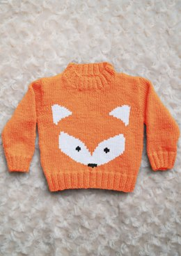 Intarsia - Fox Face Chart & Childrens Sweater