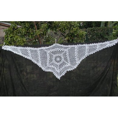 Spider Web and Skull Mandala Scarf