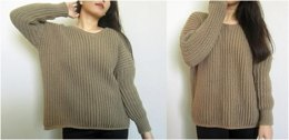 Crochet Oversized Batwing Sweater
