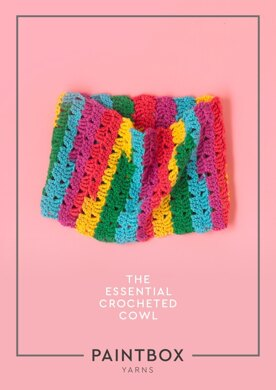 The Essential Crocheted Cowl in Paintbox Yarns Chunky Pots - Downloadable PDF