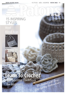 Learn to Crochet Book by Patons - 3826