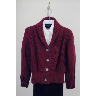 MS 106 Bulky Weight Shawl Collar Sweater