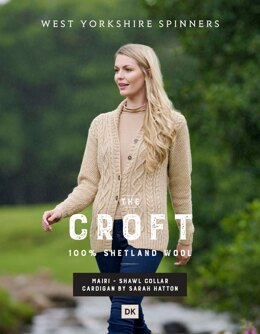 Mairi Shawl Collar Cardigan in West Yorkshire Spinners The Croft DK - DBP0048 - Downloadable PDF
