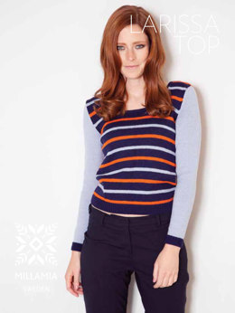 Larisa Top in MillaMia Merino Wool - Downloadable PDF