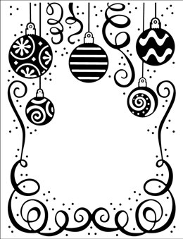 """Creative Expressions Embossing Folder 5.75""""X7.5"""" - Bauble Celebration"""