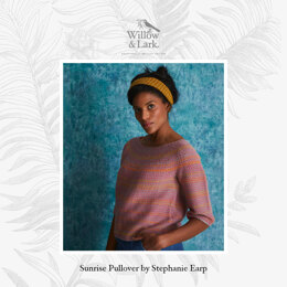 Sunrise Pullover - Sweater Knitting Pattern For Women in Willow & Lark Ramble and Poetry by Willow & Lark
