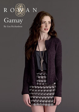 Gamay in Rowan Fine Lace and Anchor Artiste Metallic