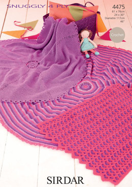 Baby Blankets in Sirdar Snuggly 4 Ply 50g - 4475