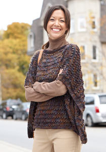 Easy-Wearing Knit Wrap in Caron Simply Soft Paints