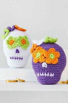 Sweet Crochet Sugar Skulls in Red Heart Amigurumi - LM6298 - Downloadable PDF