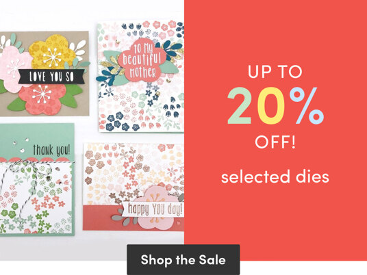 Up to 20 percent off selected dies
