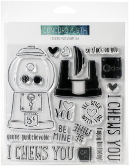 """Concord & 9th Clear Stamps 6""""X6"""" - I Chews You"""