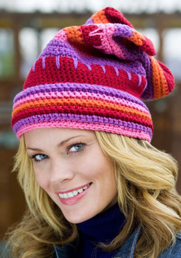 Valentine Hat in Red Heart Super Saver Economy Solids - WR2105 - Downloadable PDF