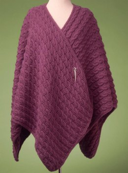 Reversible Cabled Wrap #142