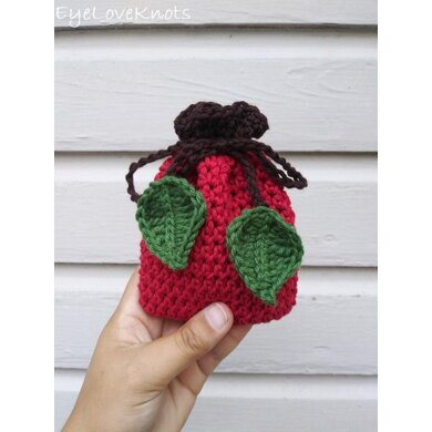 Apple Soap Cozy (or Small Gift Bag)