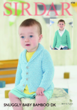 Shawl Collar and V Neck Cardigans in Sirdar Snuggly Baby Bamboo DK - 4730 - Downloadable PDF