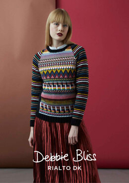 """Alma Jumper"" - Jumper Knitting Pattern For Women in Debbie Bliss Rialto DK - DB224"