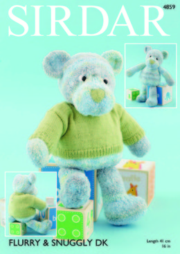 Bear with Sweater in Sirdar Flurry Chunky and Snuggly DK - 4859
