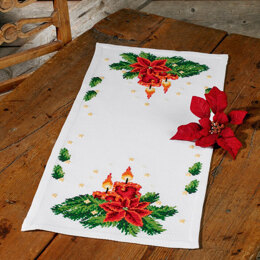 Permin Christmas Lights Tablemat Cross Stitch Kit - 36cm x 78cm
