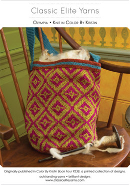 Olympia Bag in Classic Elite Yarns Color by Kristin - Downloadable PDF