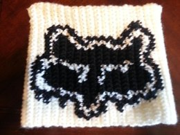 Graphed Beanie - Motocross Style Fox Face