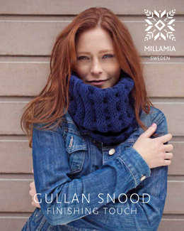 Gullan Snood in MillaMia Naturally Soft Aran - Downloadable PDF