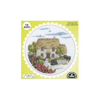 Creative World Of Crafts The Nook Cross Stitch Kit (with Sewing Tin) - Multi