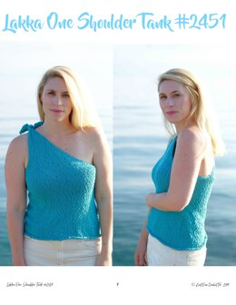 Lakka One Shoulder Tank in Knit One Crochet Too Pea Pods - 2451 - Downloadable PDF