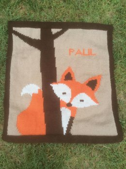 Fox blanket for baby