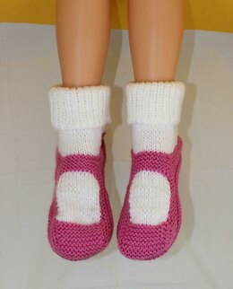 Adult Chunky Rib Cuff Sock Slippers