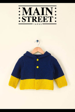 Kid's Hooded Jacket in Main Street Yarns Shiny + Soft - Downloadable PDF