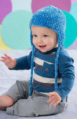 Soft Comfort Baby Hat in Red Heart Velvety - LW4589 - Downloadable PDF