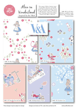 Craft Cotton Company Alice In Wonderland Fat Quarter Bundle