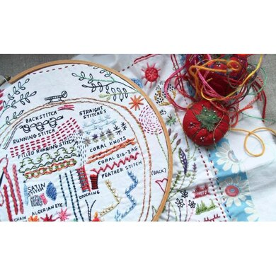Dropcloth Samplers The Original Dropcloth Embroidery Kit - 10in x 12in