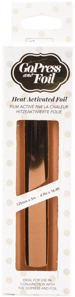 "Artdeco Creations Couture Creations Foil 5""X16.4' - Chocolate Copper - Iridescent Finish"